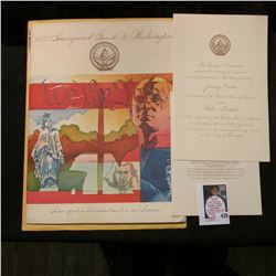 "Original 1977 Inaugural Guide to Washington with  ""The Inauguration Committee requests the honor of"