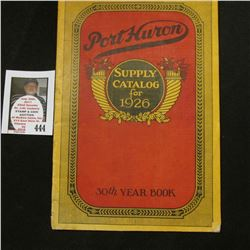 Supply Catalog for 1928 Port Huron 30th Year Book.