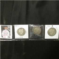 1897 P, 1899 P, & 1906 O Good U.S. Barber Half Dollars.