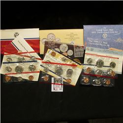 1987, 90, & 91 U.S. Mint Set. Original as issued. Issue price $21.00. ($5.46 face value.) (3 Sets)