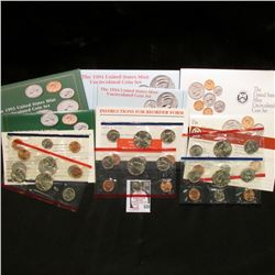 1992, 93, & 94 U.S. Mint Set. Original as issued. Issue price $23.00. ($5.46 face value.) (3 Sets)