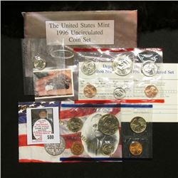 "1996 U.S. Mint Set with ""W"" Mint mark Dime. Original as issued."