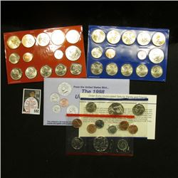 1998 & 2007 U.S. Mint Sets. Original as issued. Issue price $30.85. $15.64 face value. (2 complete M