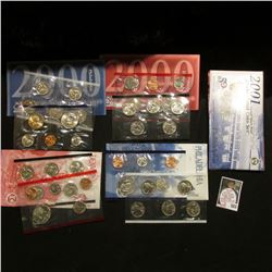 1999, 2000, & 2001 U.S. Mint Sets. Original as issued. Issue price $44.85. $15.46 face value. (3 com