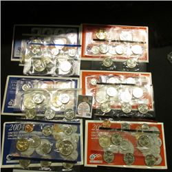 2002, 2003, & 2004 U.S. Mint Sets. Original as issued. Issue price $46.85. $17.56 face value. (3 com