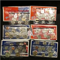 2004, 2005, & 2006 U.S. Mint Sets. Original as issued. Issue price $50.85. $17.66 face value. (3 com