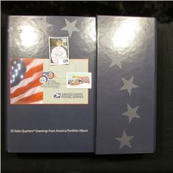 1999-2007 United States Postal Service 50 State Quarters Greetings from America Portfolio Album with