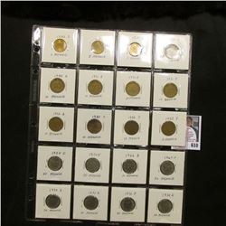 "Partial Set of German Five to Fifty Pfennig Coins in a 20-pocket 2"" x 2"" Plastic page. (20 pcs.)"