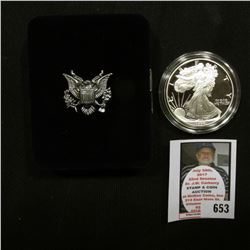 1994 P U.S. Proof American Eagle Silver Dollar .999 One Ounce in original case of issue.