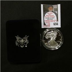 1997 P U.S. Proof American Eagle Silver Dollar .999 One Ounce in original case of issue.