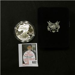 1998 P U.S. Proof American Eagle Silver Dollar .999 One Ounce in original case of issue.