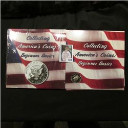 """Collecting America's Coins: Beginner Basics"" holder with 2005 S Proof Kennedy Half-Dollar, Type 2 C"
