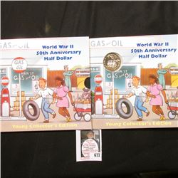 1991-1995 World War II 50th Anniversary Half Dollar in original Young Collector's Edition packaging.