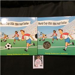 1994 D World Cup USA Half Dollar Young Collector's Edition in original packaging.