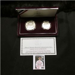 1998 Robert F. Kennedy Memorial Commemorative Two-Piece Uncirculated Coin Set with Silver Dollar and