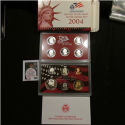 2004 S United States Mint Silver Proof Set in original box of issue.