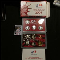 2005 S United States Mint Silver Proof Set in original box of issue.