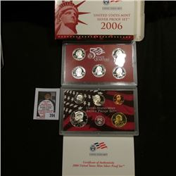 2006 S United States Mint Silver Proof Set in original box of issue.