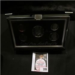 1996 S United States Mint Premier Silver Proof Set in original box of issue.