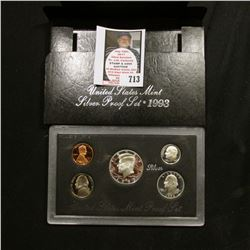 1993 S United States Mint Silver Proof Set in original box of issue.