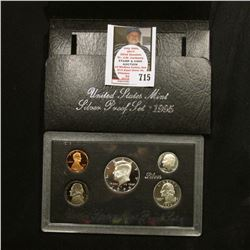 1995 S United States Mint Silver Proof Set in original box of issue.