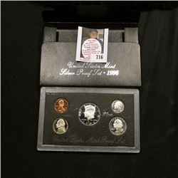1996 S United States Mint Silver Proof Set in original box of issue.