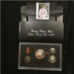1997 S United States Mint Silver Proof Set in original box of issue.
