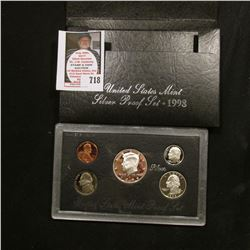 1998 S United States Mint Silver Proof Set in original box of issue.