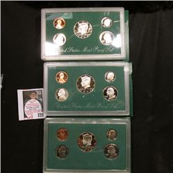 1994, 1995, & 1996 U.S. Proof Sets. Original as issued.
