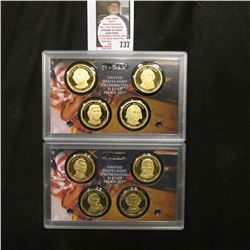2007 S & 2008 S United States Mint Presidential $1 Coin Proof Sets. Original as issued.