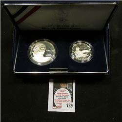 1993 United States Mint Bill of Right Commemorative Coins Two-Coin Proof Set, Half Dollar & Silver D