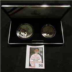 1994 United States Mint World Cup USA Two-Coin Proof Set, Half Dollar & Silver Dollar, original as i