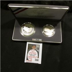 1991 United States Mint Mount Rushmore Anniversary Two-Coin Proof Set, Half Dollar & Silver Dollar,