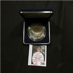 1987 S United States Mint Proof Constitution Silver Dollar in original holder as issued.