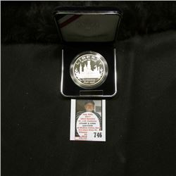 1996 P United States Mint Smithsonian Commemorative Proof Silver Dollar, original as issued.