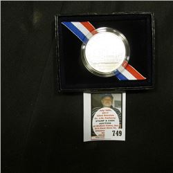 1996 D United States Mint Smithsonian Commemorative Gem BU Silver Dollar, original as issued.