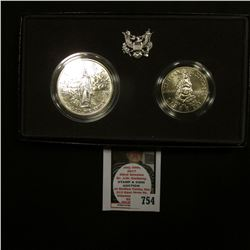 1989 D Bicentennial of the Congress Commemorative Coin Two-Coin Uncirculated Set as issued by the U.