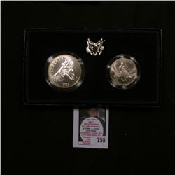 1995 Civil War Battlefield Commemorative Two-Coin Uncirculated Set. Original as issued. Silver Dolla