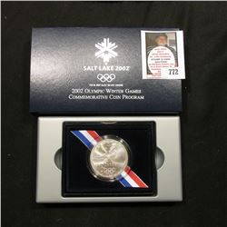 2002 P Salt Lake Olympic Winter Games Commemorative Uncirculated Silver Dollar. Original as issued.
