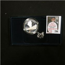1999 P Yellowstone National Park Commemorative Proof Silver Dollar. Original as issued.