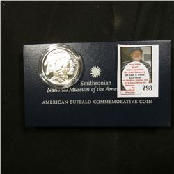2001 P Proof Smithsonian National Museum of the American Indian American Buffalo Silver Dollar Comme