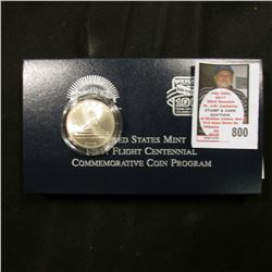 2003 P First Flight Centennial Commemorative Half Dollar in original box of issue.