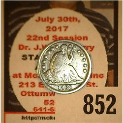 1839 O U.S. Seated Liberty Half Dime, VG with a light obverse scratch.