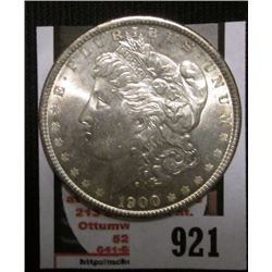 1900 P U.S. Morgan Silver Dollar, Brilliant Uncirculated.