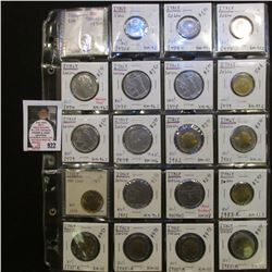 Collection of (20) 1970R-85 Italy Uncirculated Coins including 2 Lire, 5 Lire, 20 Lire, 100 Lire, 20