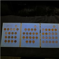 1920-59 Partial Set of Canada Cents in a Whitman folder.