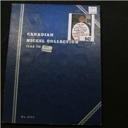 1923-56 Partial Set of Canada Nickels in a blue Whitman folder.