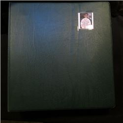 Three-Ring Binder full of plastic pages with several Proof and many BU Washington Quarters. All read