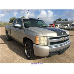 2008 - CHEVROLET SILVERADO 1500 // TEXAS REG ONLY // REBUILT SALVAGE