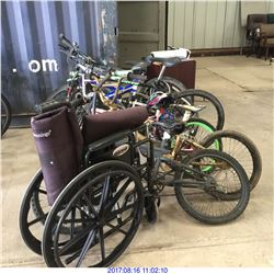BICYCLES AND WHEEL CHAIR